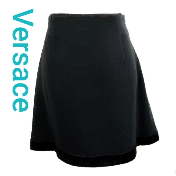 Versace Jeans Collection Dresses & Skirts - Versace Ittierre Black A line Skirt Size EU44 US8